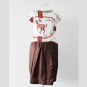 Vintage Fendi Silk Dress size S